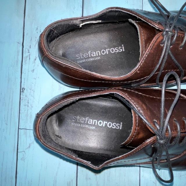 【即決/送料無料】stefanorossi ステファノロッシ 24.5cm ストレートチップ 茶 ブラウン 革靴 ビジネスシューズ_画像6