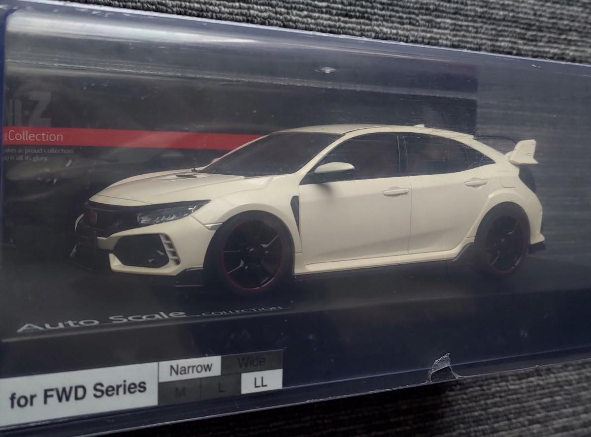 新品 京商 ミニッツ ボディ ASC Honda シビック タイプR ホワイ wV