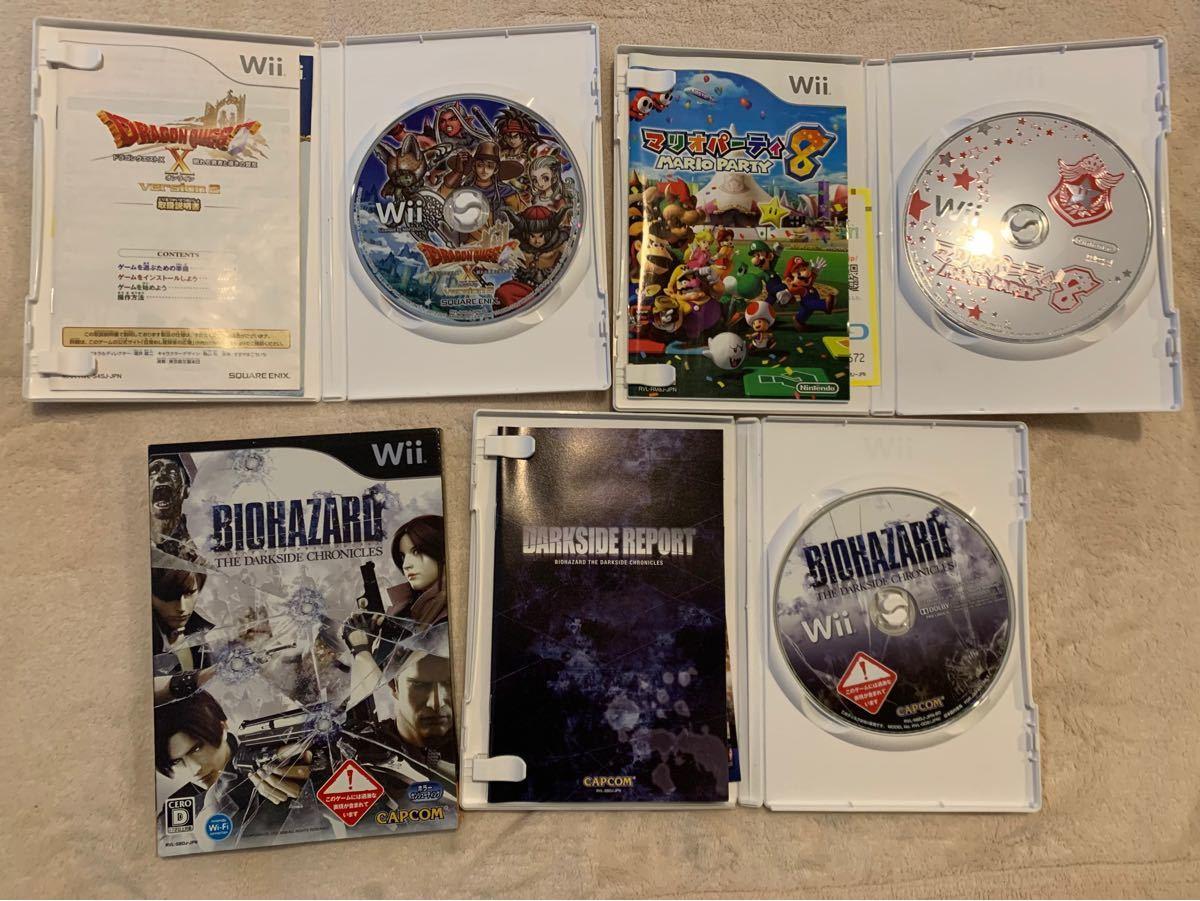 Wiiソフト Wii ゲームソフト セット マリオパーティ ゼルダ ゼノブレイド バイオハザード  バスフィッシング ドラクエ