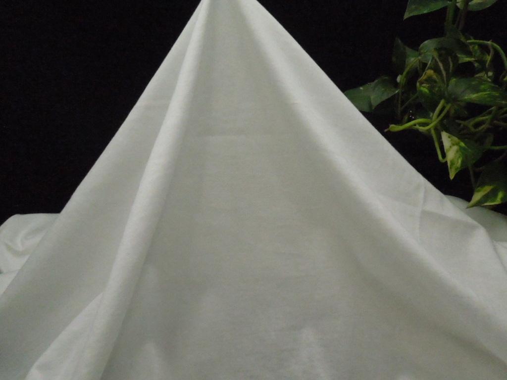 新入荷!掘り出し品!高級ブランド!なかなか手に入らない!シルケット加工!艶の有る!糸細上質綿100%ニット!ホワイト170cm巾×1,5m_日本製糸細上質綿100%シルケットニット