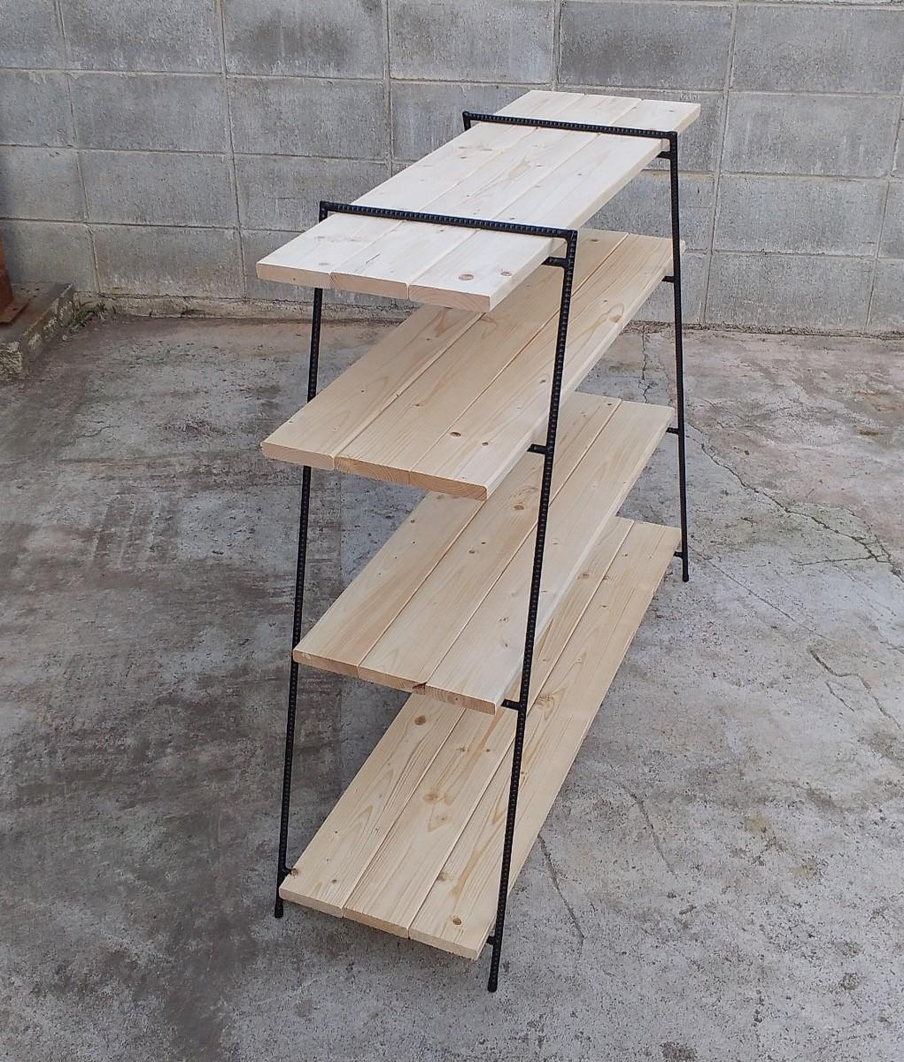 高さ930㎜アイアンシェルフ 観葉植物ラック イベント 什器 キャンプテーブル アウトドア 鉄脚 アイアンテーブル アイアンラック