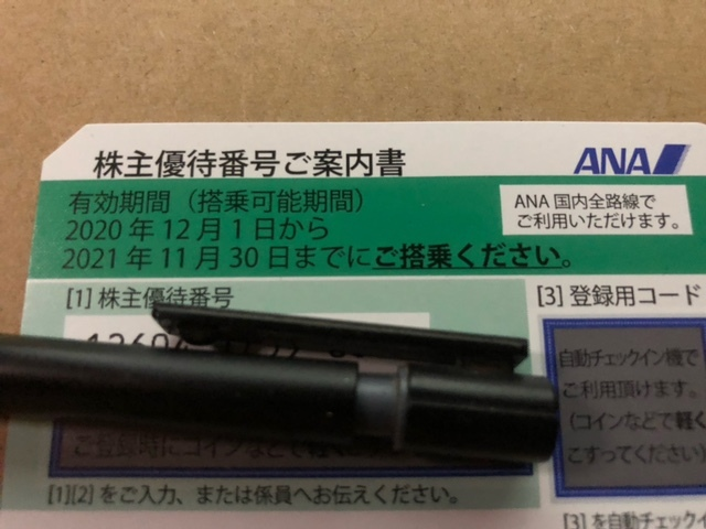 ANA 株主優待券1枚 全日空 全日本空輸 即決あり_画像1