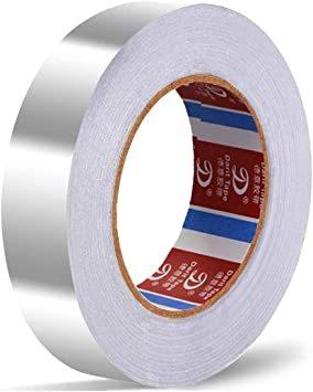 導電性アルミテープ 【25mm幅x20m長×厚さ0.06mm】導電性アルミ箔テープ 強粘着 アルミ箔テープ 静電気対_画像1