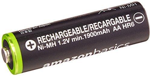 ベーシック 充電池 充電式ニッケル水素電池 単3形4個セット (最小容量1900mAh、約1000回使用可能)_画像3