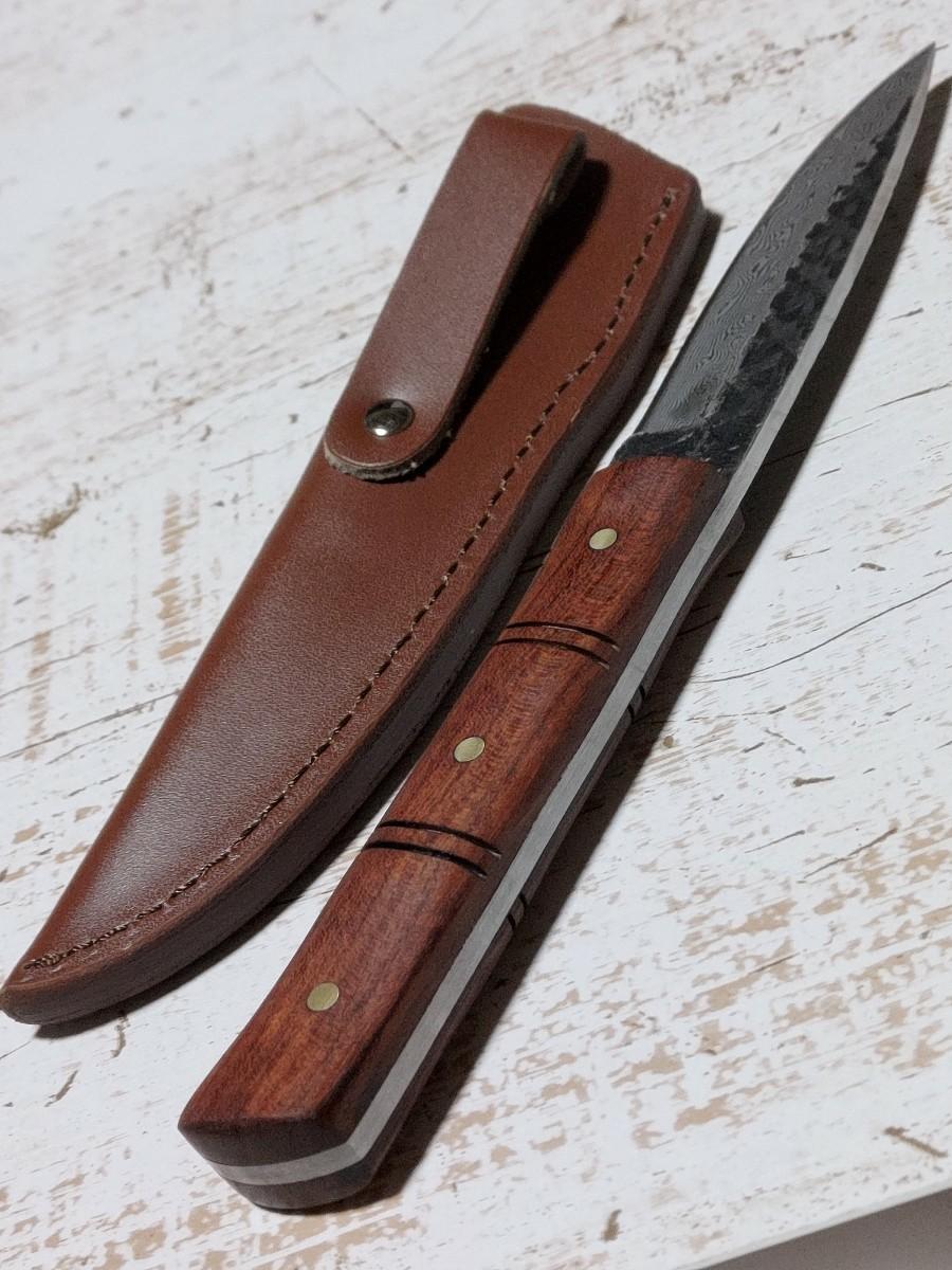 ダマスカス ハンティングナイフ サバイバルナイフ ナイフ