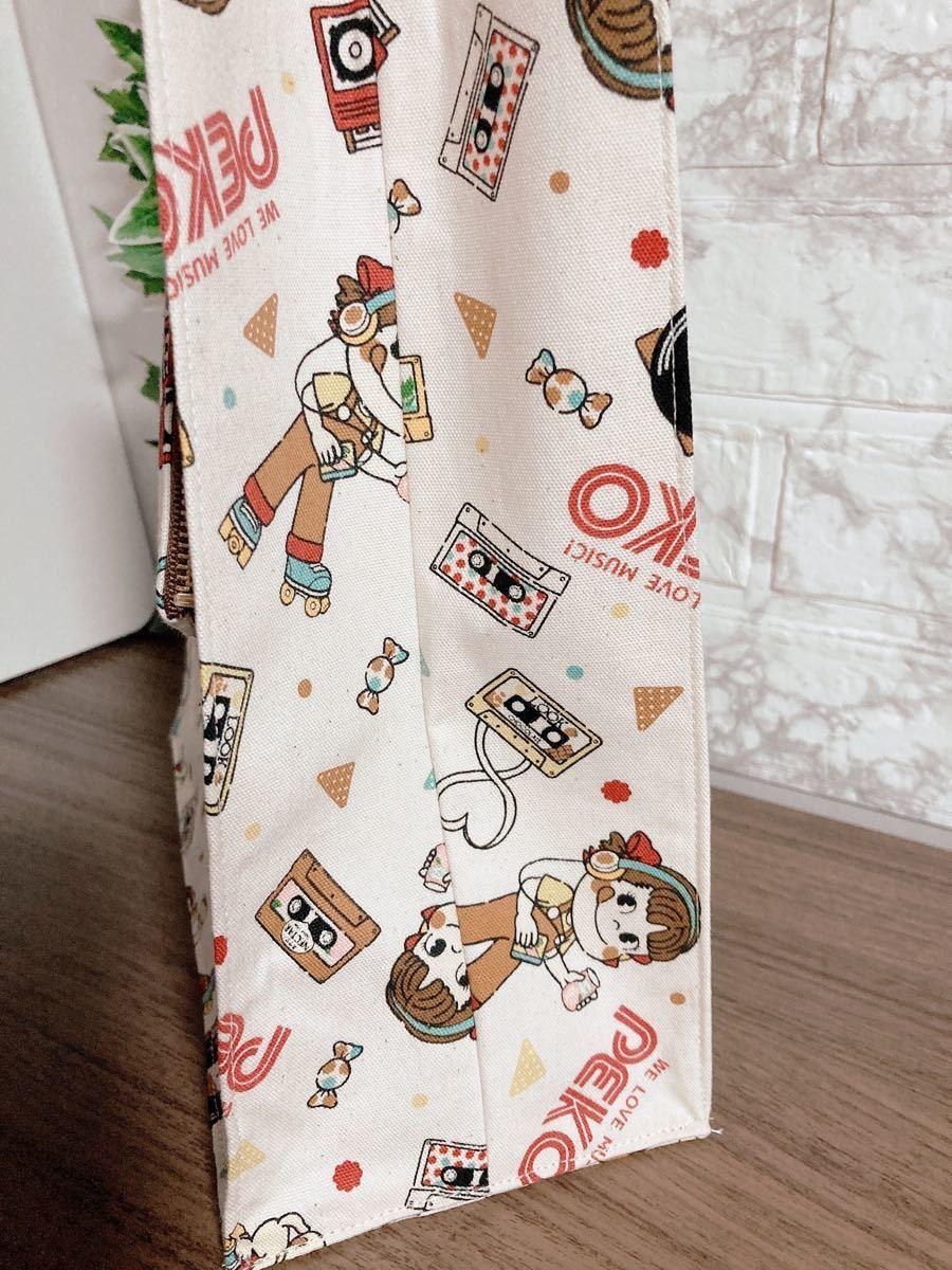 ペコちゃんミュージックA4紙袋型ミニポーチ付トートバッグ値下げ