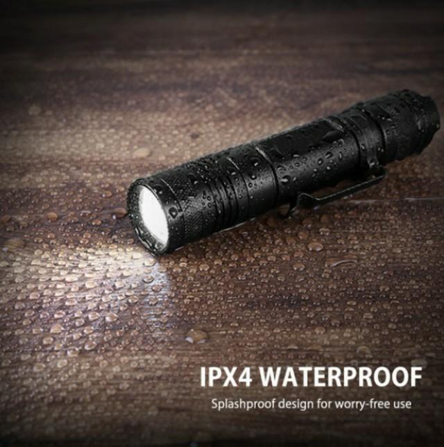 ★USBケーブル付き懐中電灯 led USB充電式 XML-T6 防水IPX4