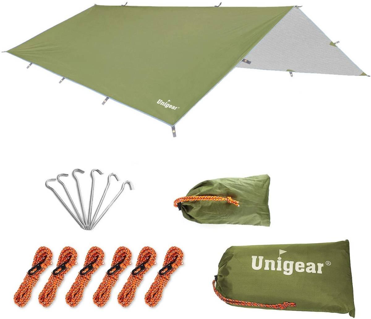 【大特価】防水タープ キャンプ タープ テント 軽量 日除け 高耐水加工 紫外線カット 遮熱 サンシェルター ポータブル 天幕 シェード_画像1