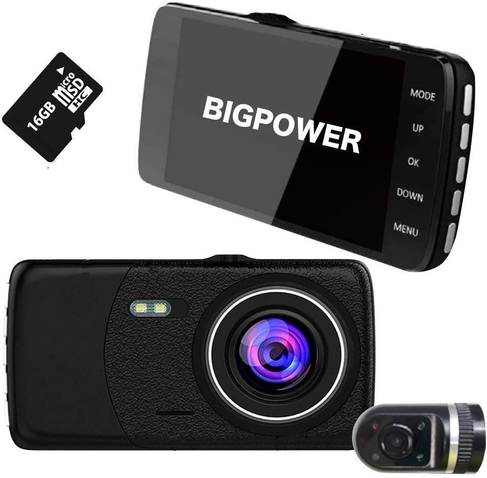 日本製 ドライブレコーダー 前後 カメラ 2カメラ 前後カメラ リアカメラ 駐車監視 衝撃録画 常時録画 モーション検知 ドラレコ_画像2