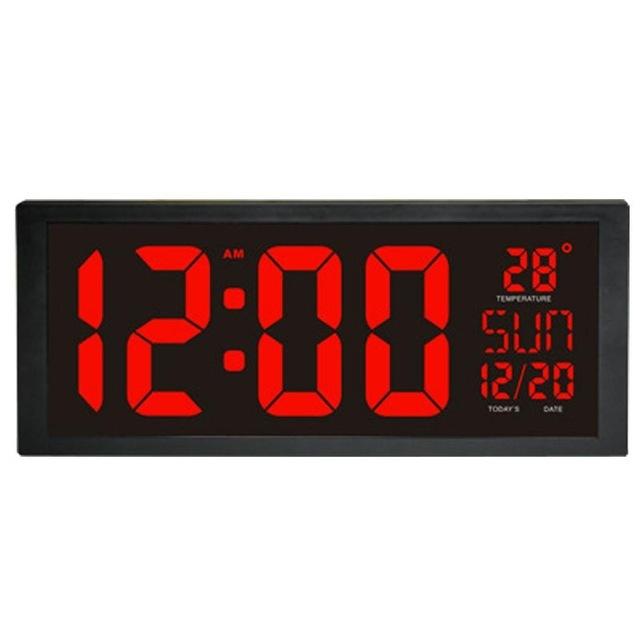 モダンデザイン ウォールクロック 壁掛け時計 カレンダー 温度計 デジタル表示 レトロ フューチャー おしゃれ インテリア  5YQ_画像1