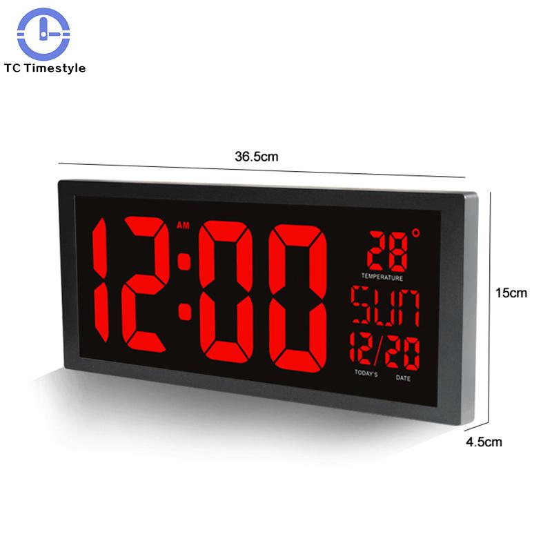モダンデザイン ウォールクロック 壁掛け時計 カレンダー 温度計 デジタル表示 レトロ フューチャー おしゃれ インテリア  5YQ_画像2