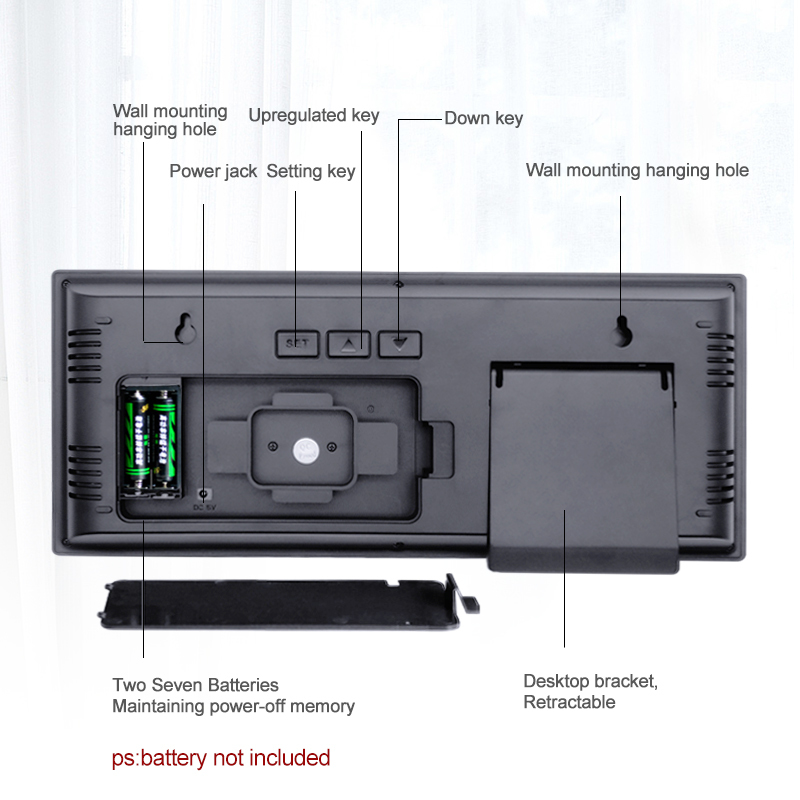モダンデザイン ウォールクロック 壁掛け時計 カレンダー 温度計 デジタル表示 レトロ フューチャー おしゃれ インテリア  5YQ_画像3