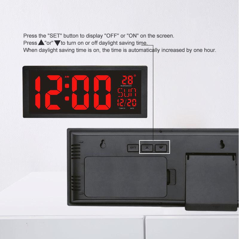 モダンデザイン ウォールクロック 壁掛け時計 カレンダー 温度計 デジタル表示 レトロ フューチャー おしゃれ インテリア  5YQ_画像4