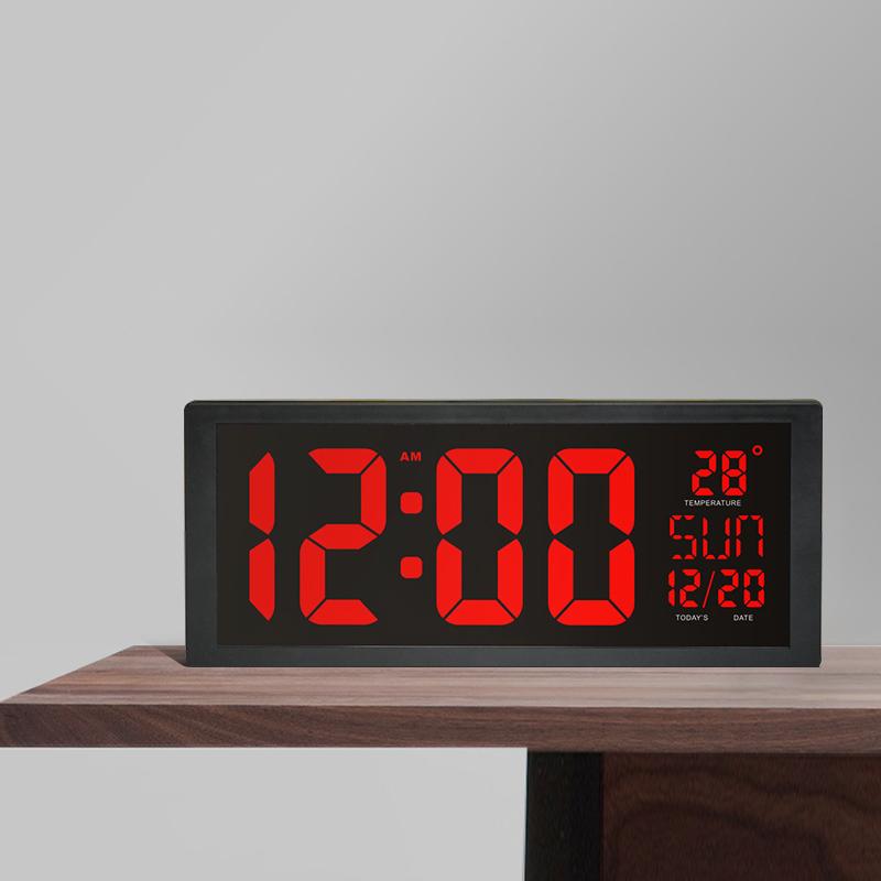 モダンデザイン ウォールクロック 壁掛け時計 カレンダー 温度計 デジタル表示 レトロ フューチャー おしゃれ インテリア  5YQ_画像5