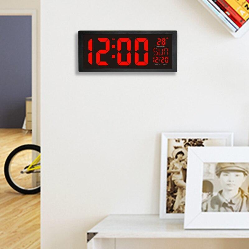 モダンデザイン ウォールクロック 壁掛け時計 カレンダー 温度計 デジタル表示 レトロ フューチャー おしゃれ インテリア  5YQ_画像6