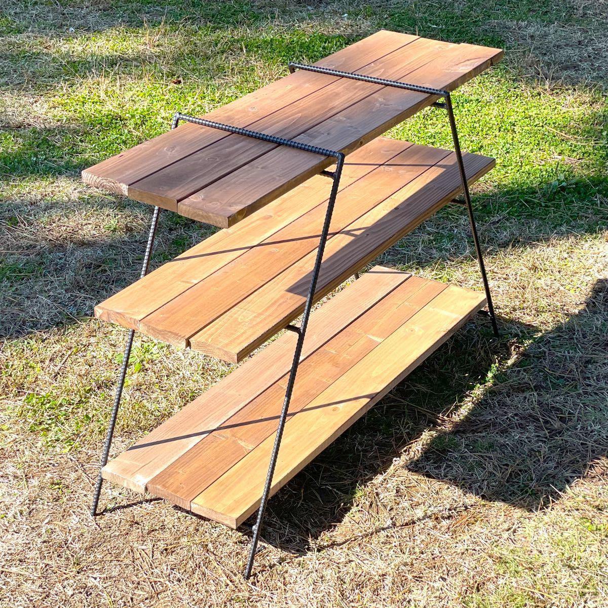 アイアンラック 700 鉄脚のみ アイアンシェルフ テーブル