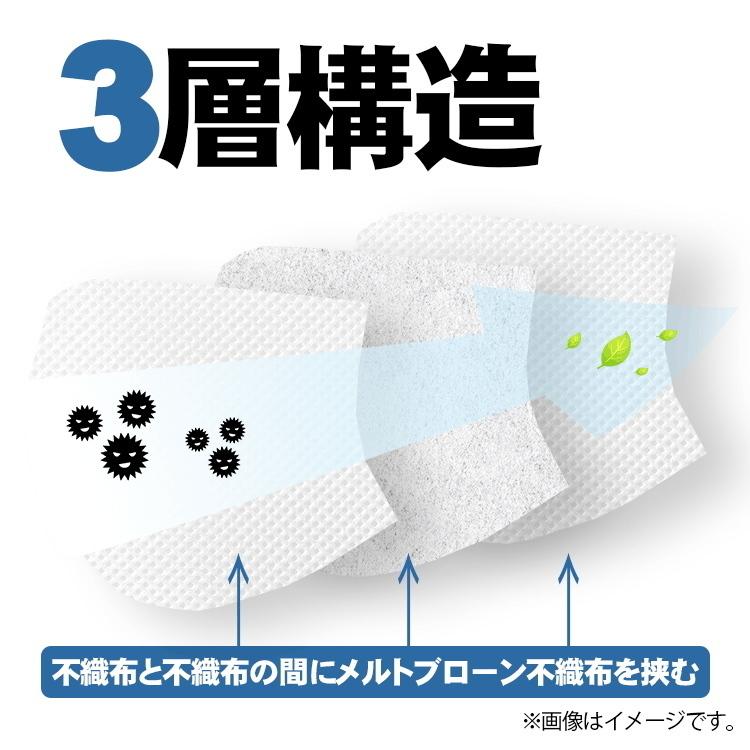 送料別! 不織布マスク 50枚入り キッズサイズ 1箱 男女兼用 大人用 3層構造 使い捨て 立体 ウイルス対策 花粉対策 防塵対策 インフル_画像4
