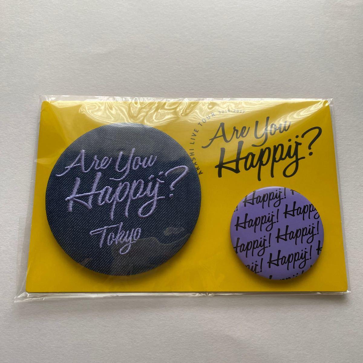嵐 ARASHI Are You Happy? 会場限定 バッジセット 紫 東京