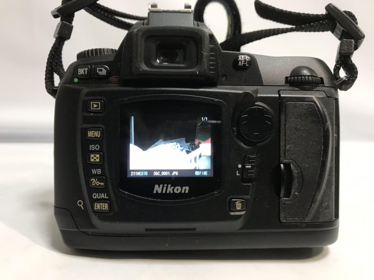 Nikon ニコン D70 デジタル一眼レフカメラ AF-S DX ZOOM-NIKKOR 18-70mm f/3.5-4.5G IF ED 簡易動作確認済 ショット数不明 元箱 現状 T1111_画像5