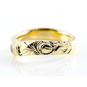 ハワイアンジュエリー ピンキーリング ブルームーンストーン イエローゴールドk18 18金 リング 指輪 18k レディース 6月誕生石_画像2
