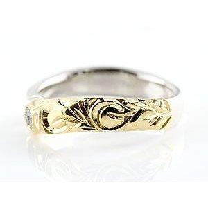 ハワイアンジュエリー ブルームーンストーン プラチナ イエローゴールドk18 18金 コンビリング 指輪 レディース 6月誕生石_画像2