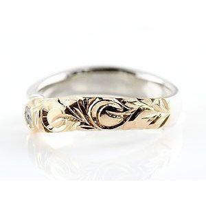 ハワイアンジュエリー ピンキーリング ブルームーンストーン プラチナ ピンクゴールドk18 18金 指輪 レディース 6月誕生石_画像2