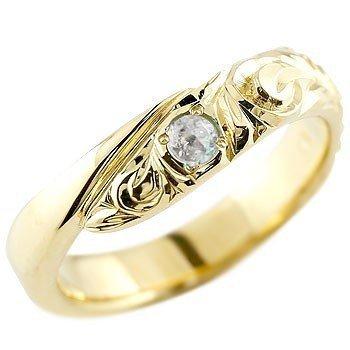 ハワイアンジュエリー ピンキーリング ブルームーンストーン イエローゴールドk18 18金 リング 指輪 18k レディース 6月誕生石_画像1