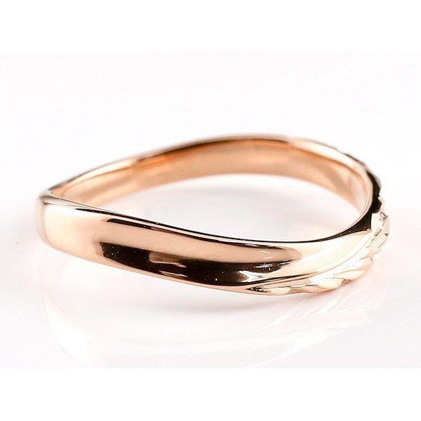 ハワイアンジュエリー 結婚指輪 マリッジリング ペアリング ホワイトゴールドk10 ピンクゴールドk10 ハワイアンリング 地金 k10 送料無料_画像3