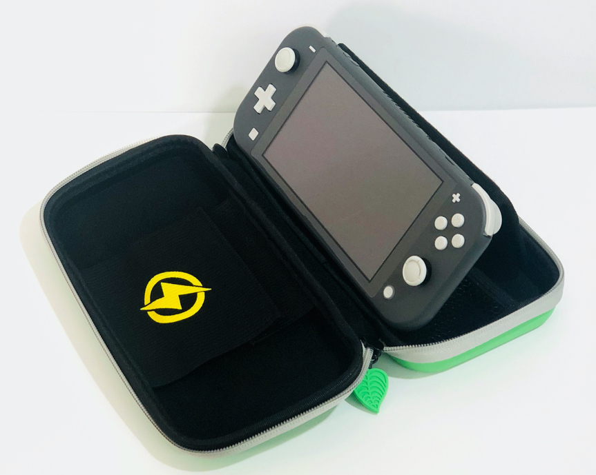 SwitchLite用 キャリングケース 保護ケース 葉っぱ デザイン アイコン