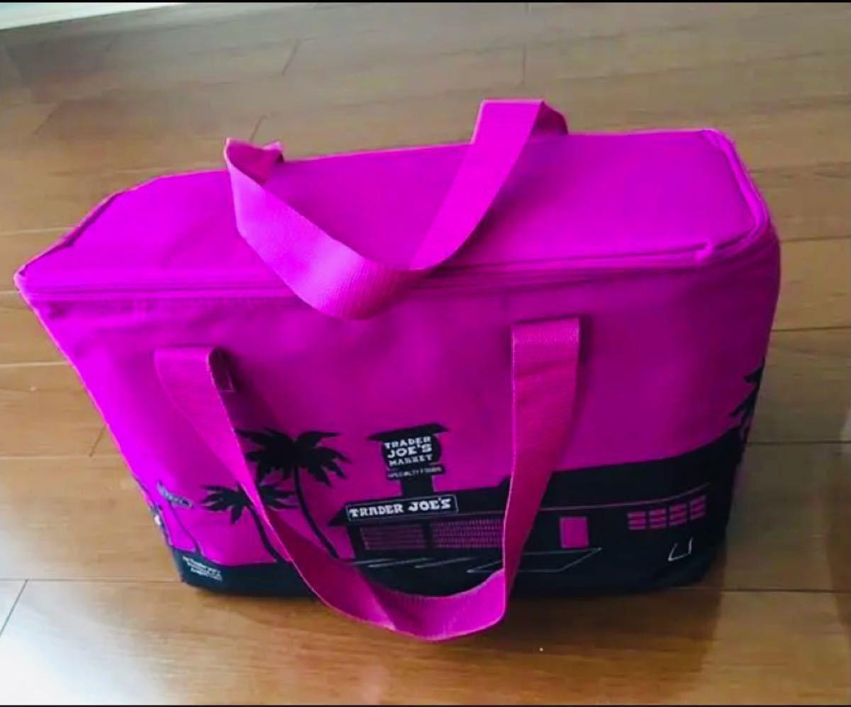【新品】トレジョ TRADER JOE'S 保冷バック 大 エコバッグ 紫 パープル 限定 クーラーバッグ PURPLE 大容量