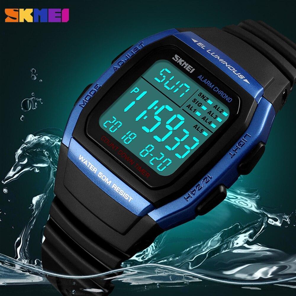 ■★メンズ腕時計 スポーツメンズ腕時計 フィットネスクロノデジタル防水腕時計 202_画像1