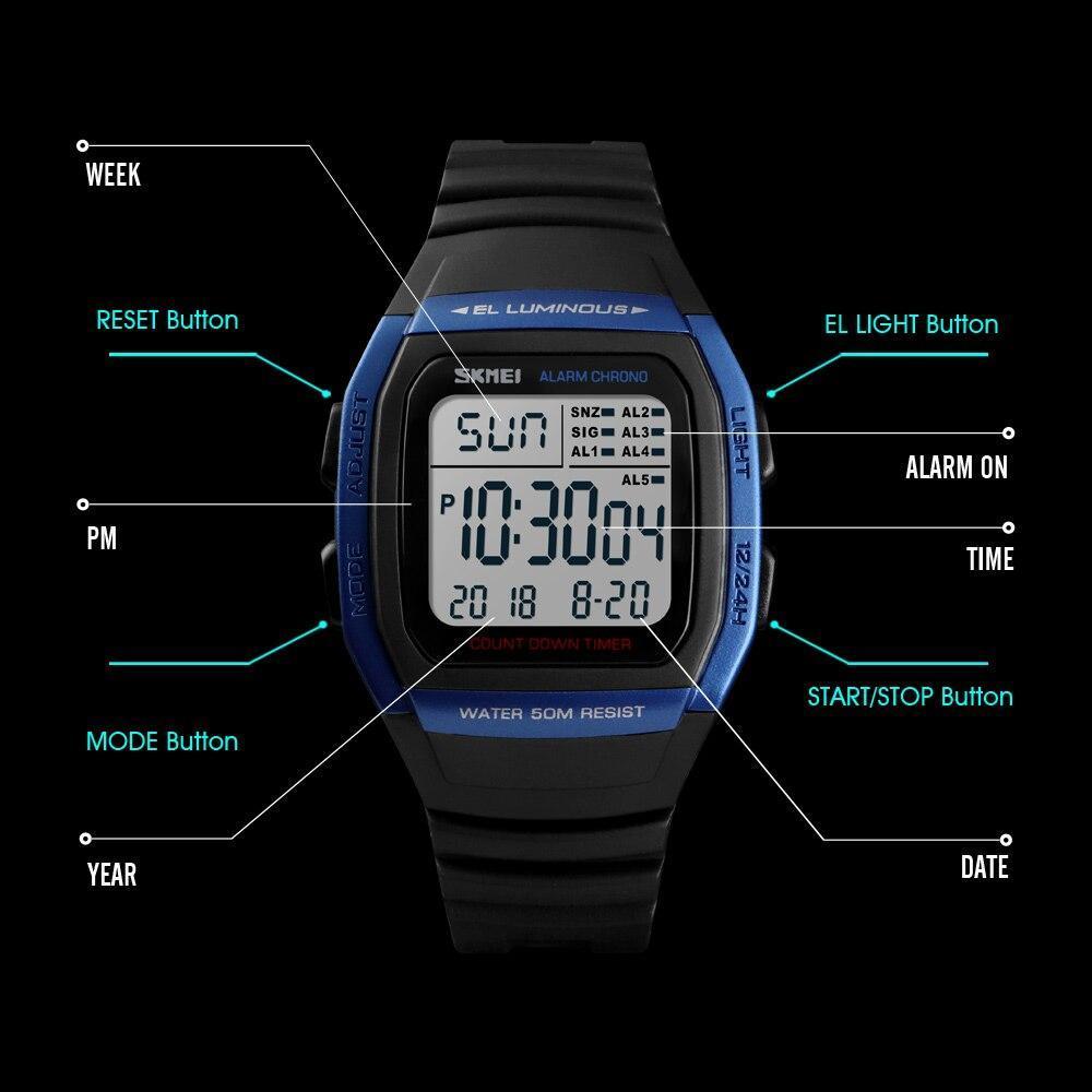 ■★メンズ腕時計 スポーツメンズ腕時計 フィットネスクロノデジタル防水腕時計 202_画像6