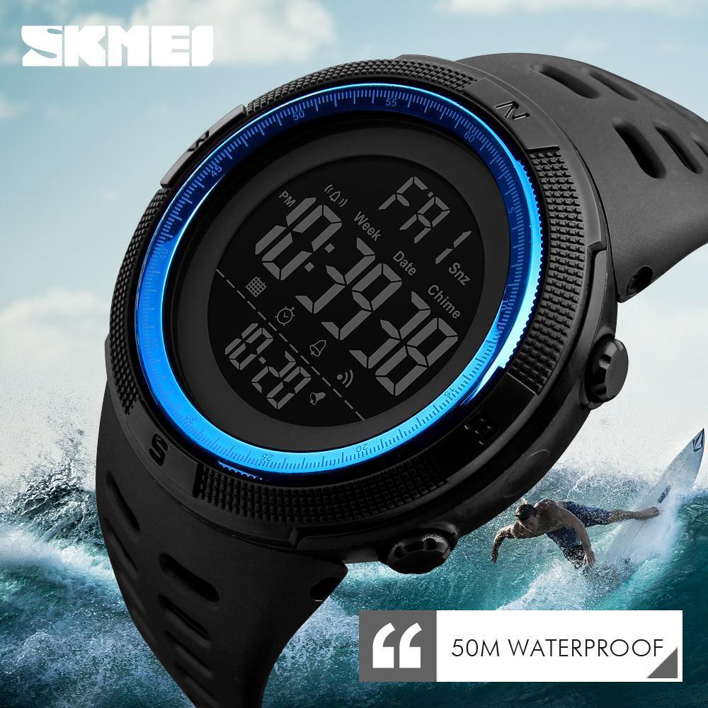 ●★メンズ腕時計 防水メンズウォッチ 新ファッションカジュアル デジタルスポーツ腕時計 多機能 210_画像2