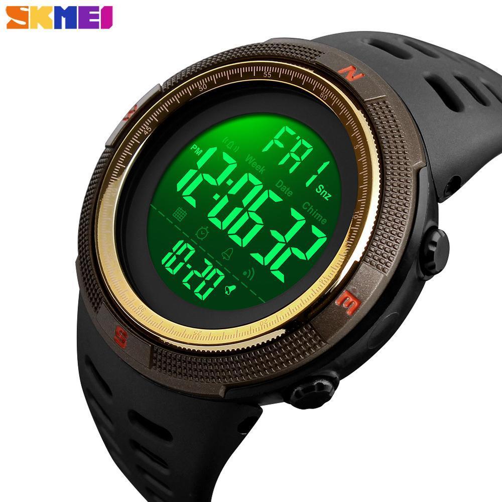 ●★メンズ腕時計 防水メンズウォッチ 新ファッションカジュアル デジタルスポーツ腕時計 多機能 210_画像3