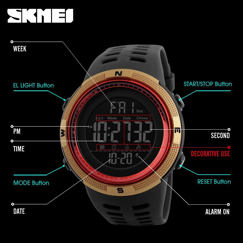 ●★メンズ腕時計 防水メンズウォッチ 新ファッションカジュアル デジタルスポーツ腕時計 多機能 210_画像6