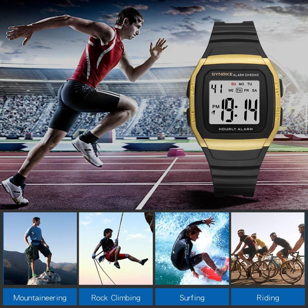 ●1円スタート ★メンズ腕時計 スポーツ腕時計 防水 ストップウォッチ機能 227_画像1