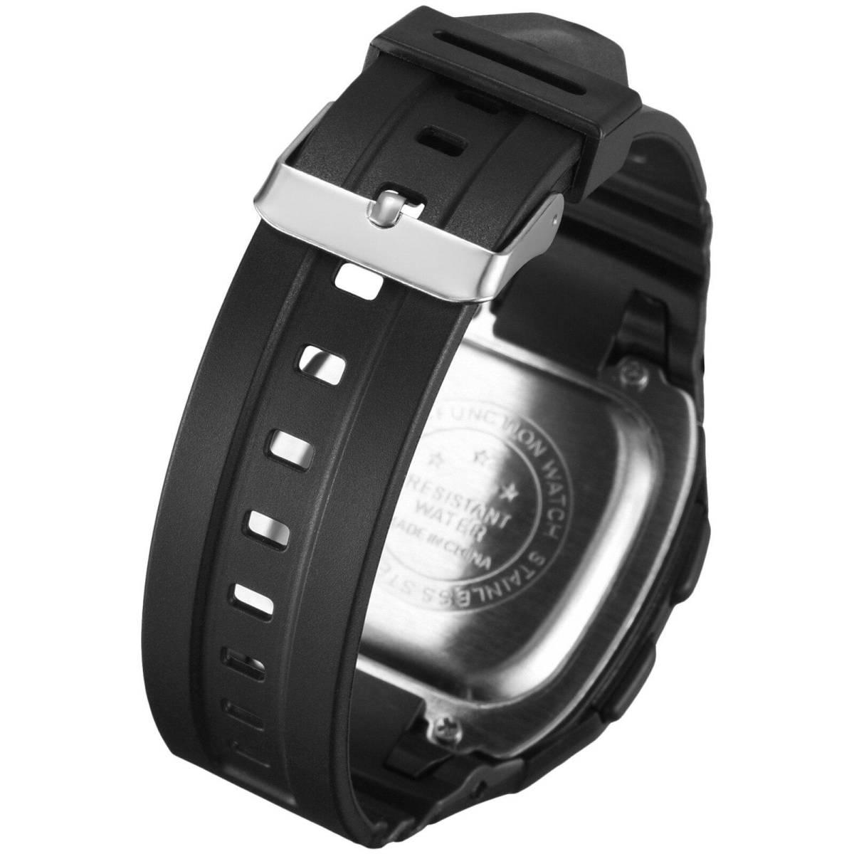 ●1円スタート ★メンズ腕時計 スポーツ腕時計 防水 ストップウォッチ機能 227_画像3