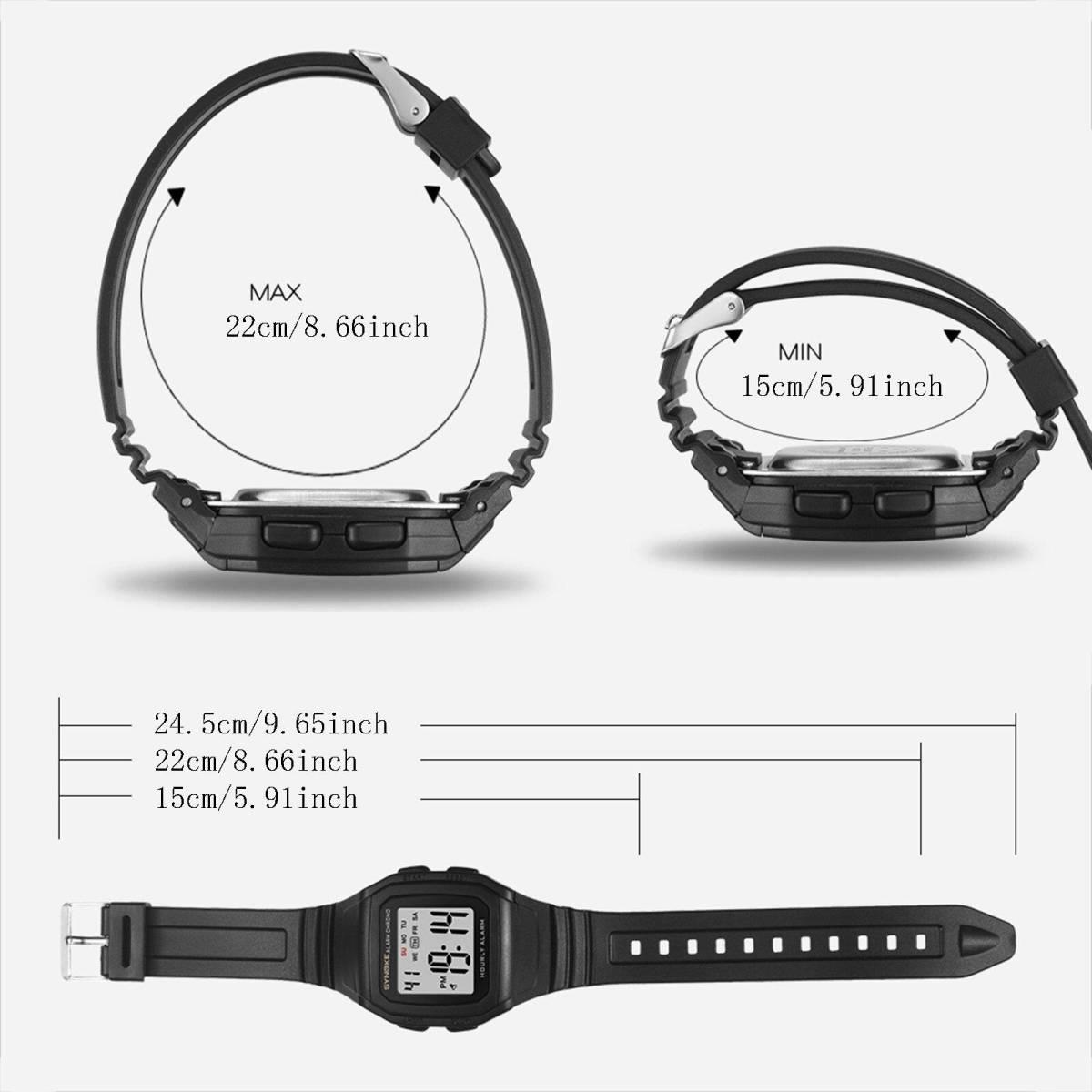 ●1円スタート ★メンズ腕時計 スポーツ腕時計 防水 ストップウォッチ機能 227_画像4