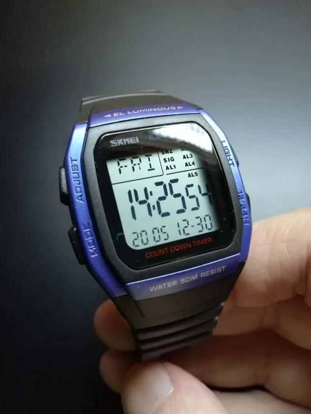 ■★メンズ腕時計 スポーツメンズ腕時計 フィットネスクロノデジタル防水腕時計 202_画像2