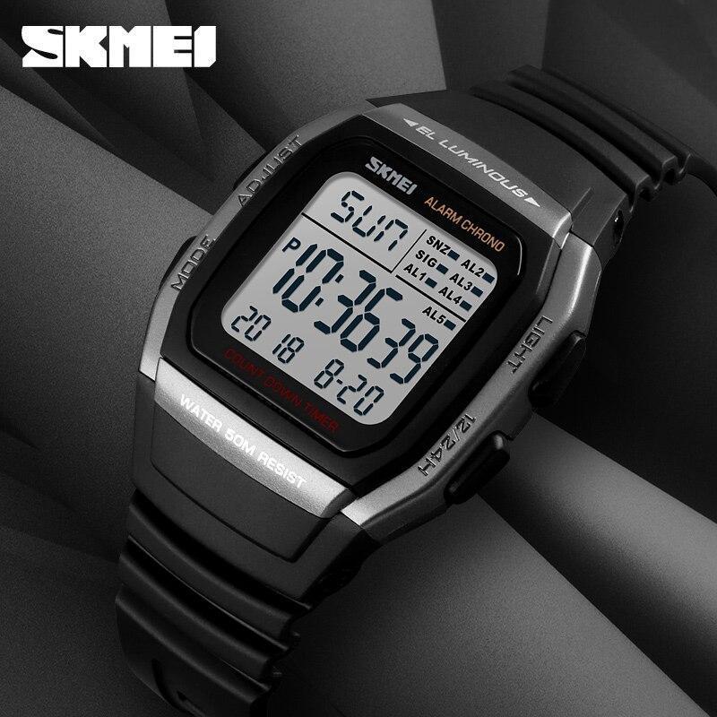 ■★メンズ腕時計 スポーツメンズ腕時計 フィットネスクロノデジタル防水腕時計 202_画像3
