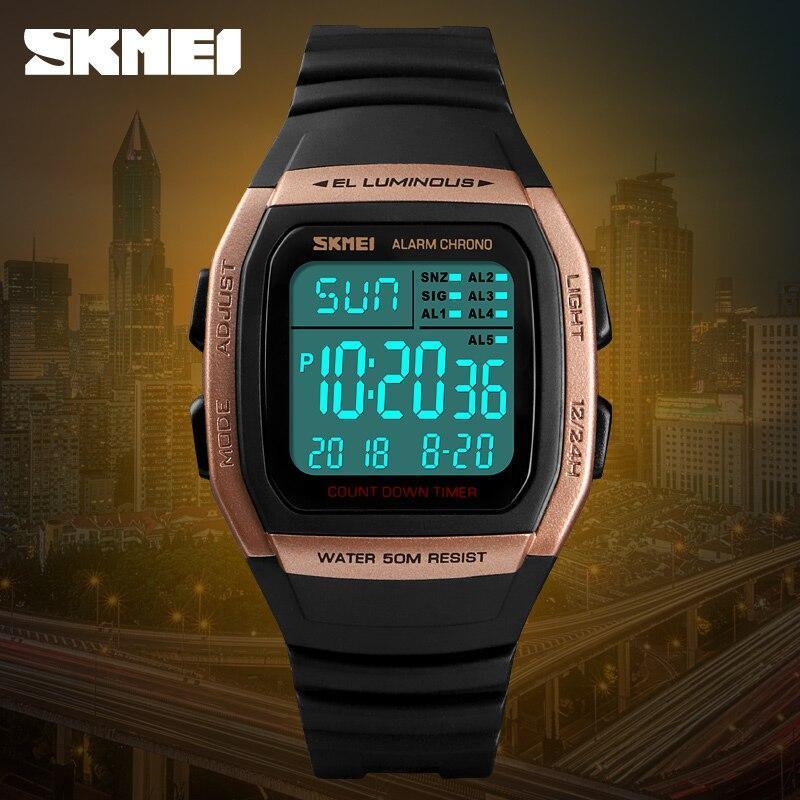■★メンズ腕時計 スポーツメンズ腕時計 フィットネスクロノデジタル防水腕時計 202_画像4