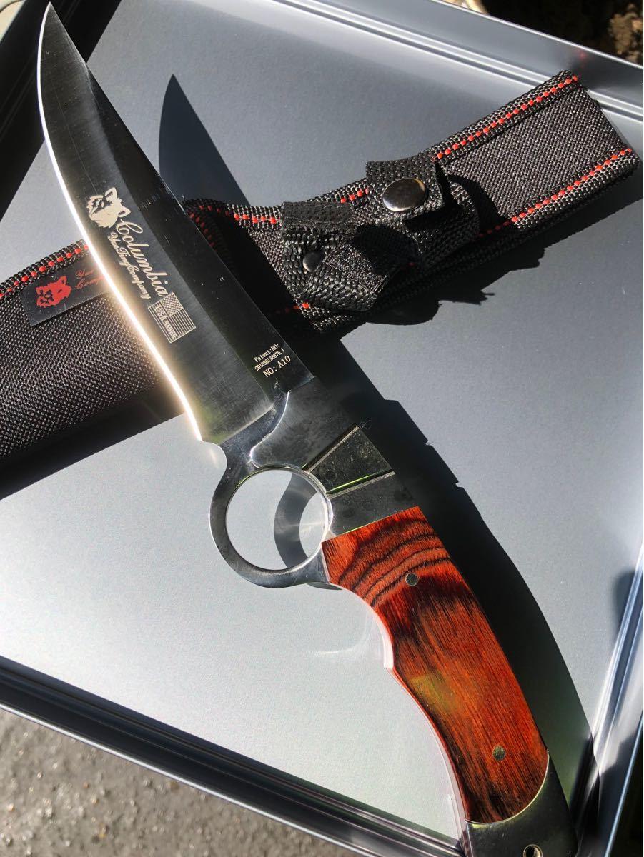 コロンビアナイフ サムホール フルタング シースナイフ A10