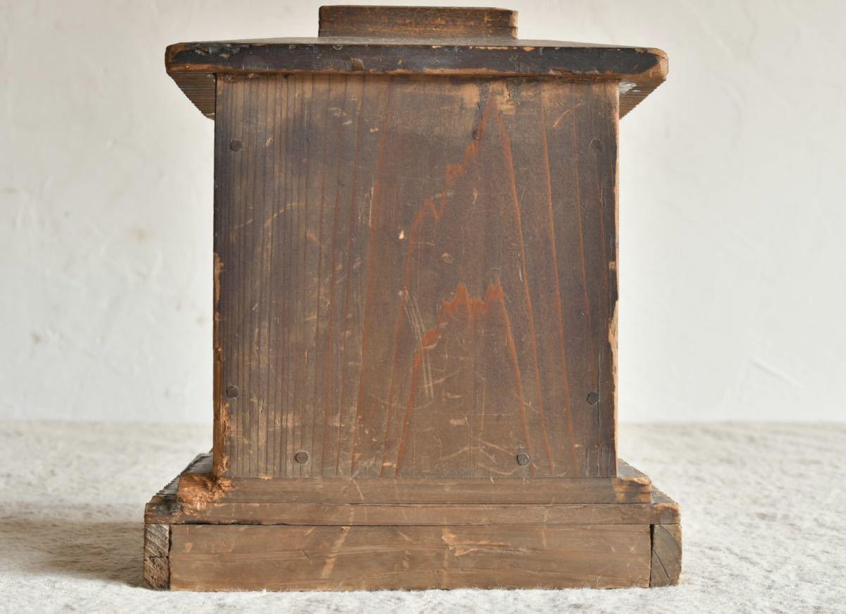 【古美術】大黒様 仏教美術 木彫 仏像 厨子 古木 古仏 木彫 アンティーク レトロ 東洋芸術
