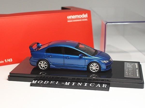▲超絶版!限定品!Onemodel 1/43 ホンダ Honda Civic シビックType R タイプ R 無限 FD2 Mugen 青 新品_画像4