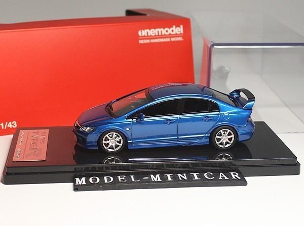 ▲超絶版!限定品!Onemodel 1/43 ホンダ Honda Civic シビックType R タイプ R 無限 FD2 Mugen 青 新品_画像1