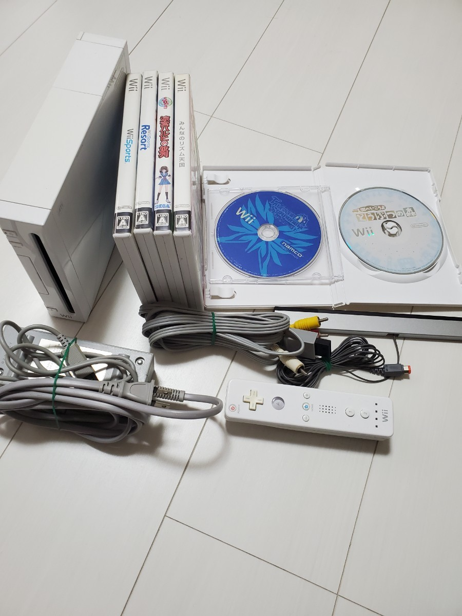 Wii 本体+ソフト6本セット まとめ売り