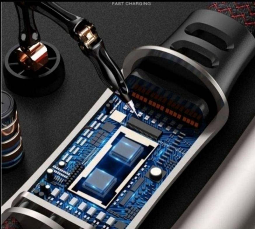 急速充電 耐久 タイプC Android iPhone ケーブル 3in1充電器
