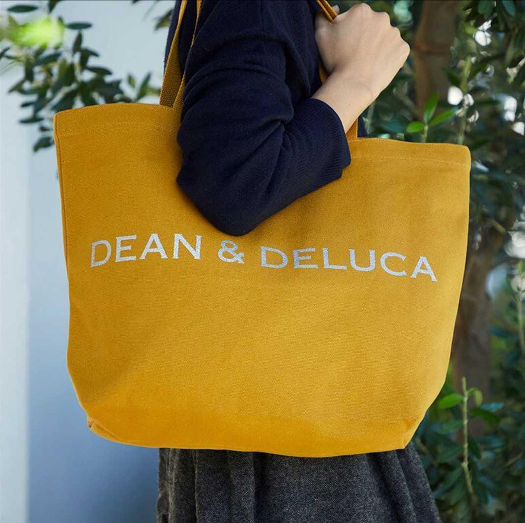 ディーン&デルーカ DEAN&DELUCA チャリティートート 2020 キャラメルイエロー Lサイズ トートバッグ エコバッグ A4サイズ_画像3