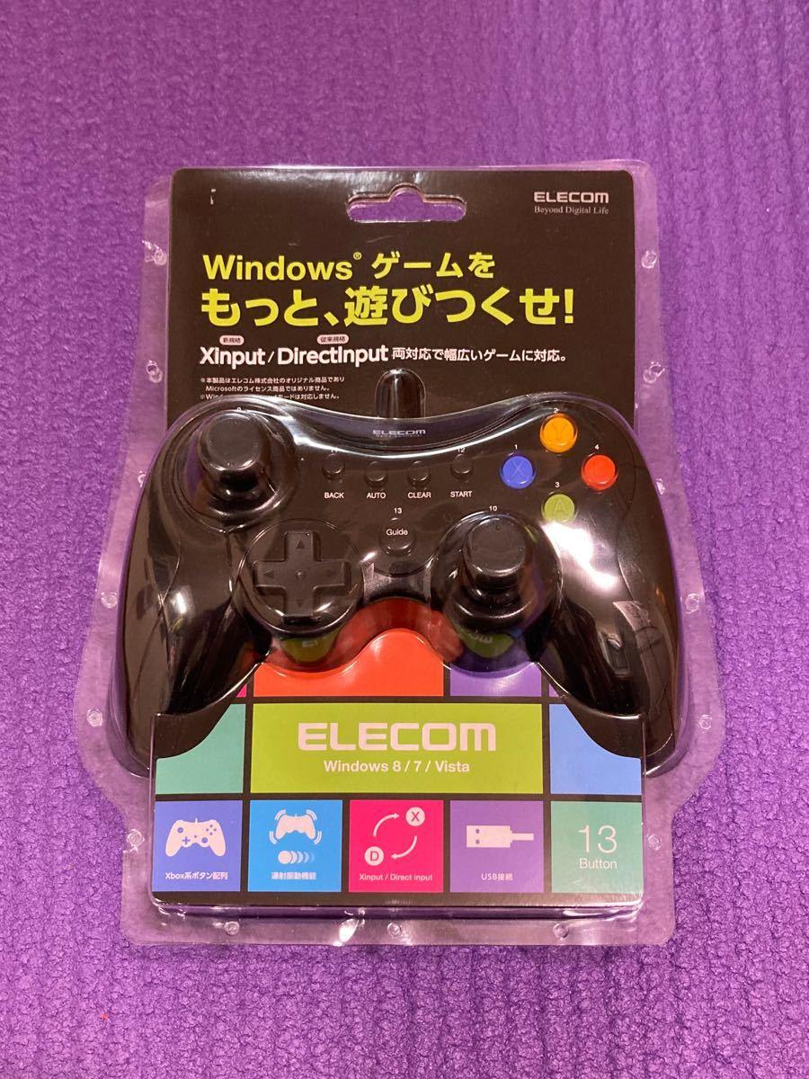 エレコム ELECOM JC-U3613MBK [12ボタンUSBゲームパッド Xinput対応 ブラック]