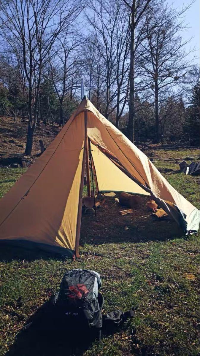 薪ストーブ 3f ul gear 窓付き薪ストーブ ステンレス製 キャンプ暖炉 軽量コンパクト特典付き